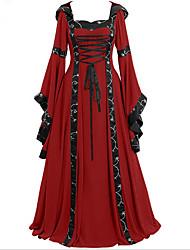 cheap -Women's Plus Size Daily Basic Maxi Swing Dress - Striped Geometric Print Square Neck Black Blue Red S M L XL