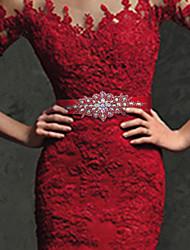 Недорогие -Камни и кристаллы / Шёлковая ткань рипсового переплетения Свадьба Кушак С Пояс Жен. Пояса и ленты