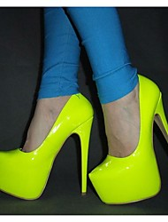 cheap -Women's Heels Stiletto Heel Round Toe Patent Leather Spring &  Fall Green / Fuchsia / Yellow