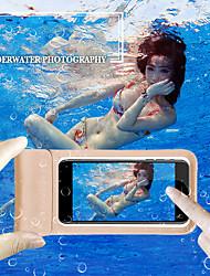 Недорогие -чехол для яблока / samsung galaxy / huawei универсальный водостойкий чехол для всего тела сплошной цвет eva