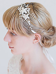 cheap -Alloy Headbands with Pearls / Crystal / Rhinestone 1 Piece Wedding Headpiece