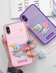 cheap -Case For Apple iPhone XS / iPhone XR / iPhone XS Max Ultra-thin / Pattern Back Cover Animal / Cartoon Silica Gel