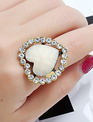 cheap -Women's Ring Adjustable Ring 1pc Pink Light Blue Champagne Resin Rhinestone Alloy Daily School Jewelry