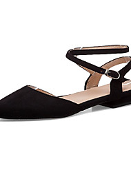 cheap -Women's Flats Low Heel Pointed Toe PU(Polyurethane) Sweet Spring & Summer Black / White
