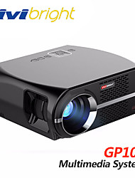 cheap -vivibright GP100 LCD LED Projector 3500 lm Support 1080P (1920x1080) 28~280 inch
