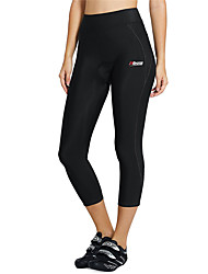 cheap -21Grams Women's Cycling 3/4 Tights Spandex Bike Tights Pants Bottoms Breathable Quick Dry Sports Black Mountain Bike MTB Road Bike Cycling Clothing Apparel Form Fit Bike Wear / Stretchy