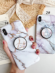 cheap -Case For Apple iPhone XS / iPhone XR / iPhone XS Max with Stand / Pattern Back Cover Marble TPU for iPhone X 8 8PLUS 7 7PLUS 6 6S 6PLUS 6SPLUS
