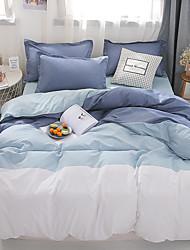 cheap -Duvet Cover Sets Color Block / Stripes / Ripples Polyester / Polyamide Reactive Print 4 PieceBedding Sets