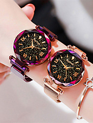 cheap -Women's Wrist Watch Quartz Watches Fashion Elegant Black Blue Purple Stainless Steel Quartz Black Rose Gold Purple Casual Watch 1 pc Analog One Year Battery Life