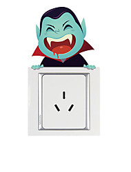 cheap -Light Switch Stickers - Plane Wall Stickers / Holiday Wall Stickers Halloween Decorations Living Room / Bedroom / Kitchen / Removable / Re-Positionable