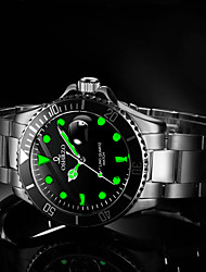 cheap -Men's Dress Watch Quartz Formal Style Stylish Stainless Steel Silver 30 m Water Resistant / Waterproof Calendar / date / day Casual Watch Analog Luxury Fashion - Black Green Blue One Year Battery Life