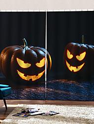 abordables -halloween citrouille lanternes personnalisé rideau prêt à être fait luxe simple moderne ombrage rideau en tissu pour salon / chambre