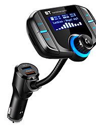 cheap -Car MP3 Bluetooth Player Large Screen Dual USB Cigarette Lighter FM Transmitter
