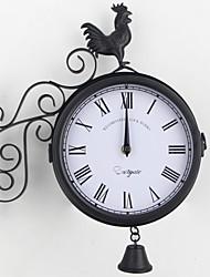 Недорогие -Современный современный / Мода Нержавеющая сталь нерегулярный Классика В помещении Батарея Украшение Настенные часы Цифровой Полированное Да