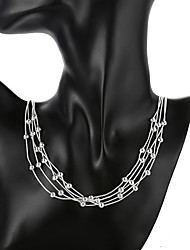 cheap -Women's Pendant Necklace Geometrical Gypsophila Fashion Silver Plated Silver 50 cm Necklace Jewelry 1pc For Daily Street