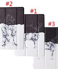 Недорогие -чехол для apple ipad pro 10.5 / pro 9.7 / ipad 2/3 / 4 / air / air 2 / mini 1/2/3 / mini 4 / mini 5 / ipad (2018) / ipad (2017) пылезащитный / с подставкой / рисунком чехлы для тела мультфильм пу кожа