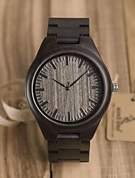 cheap -Men's Dress Watch Japanese Japanese Quartz Stylish Wood Black 30 m Casual Watch Wooden Analog Wood - Black Two Years Battery Life