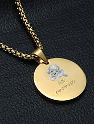 cheap -Personalized Customized puppy Dog Tags Classic Gift Daily 1pcs Gold Silver
