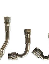 Недорогие -автомобильный шинный удлинитель клапана надувной трубки мотоцикла шинный адаптер клапана (45/90/135 градусов)