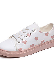 cheap -Women's Sneakers Low Heel Canvas Casual Summer Green / Pink