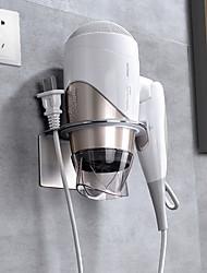 Недорогие -304 из нержавеющей стали настенное крепление держателя фена самоклеющаяся подставка для фена и органайзер для ванной сушилка для расчески