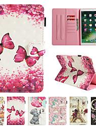 Недорогие -чехол для apple ipad pro 10.5 кошелек / визитница / с подставкой для чехлов для тела бабочка / 3d мультфильм / цветок из искусственной кожи