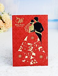 "cheap -Wrap & Pocket Wedding Invitations 30pcs - Invitation Cards / Thank You Cards / Response Cards Modern Style / Fairytale Theme / Bride & Groom Style Pure Paper 5""×7 ¼"" (12.7*18.4cm)"