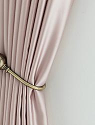 abordables -Des rideaux de soie mélangés de polyester et de coton de qualité supérieure fabriqués dans le salon, de style moderne et luxueux
