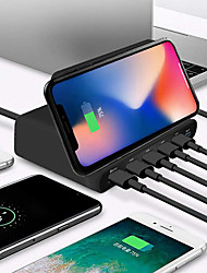 cheap -10W Qi Wireless Charger For Iphone X XS MAX Multi USB Quick Charge 3.0 Fast Chargeur For Samsung S9 S8