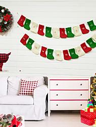 cheap -Stockings / Christmas / Christmas Ornaments Holiday / Family Non-woven fabric Mini Cartoon / Party / Novelty Christmas Decoration