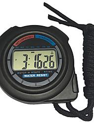cheap -Men's Women's Sport Watch Stopwatch Digital Black No New Design Alarm Clock Stopwatch Digital Outdoor New Arrival - Black One Year Battery Life / Large Dial