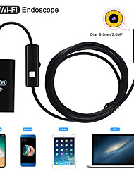 cheap -8mm Lens WiFi Endoscope Camera Waterproof IP67 Inspection Borescope Soft 1m Length for Android Iphone PC