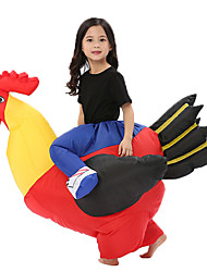 cheap -Cowboy Chicken Cosplay Costume Inflatable Costume Kid's Boys' Halloween Halloween Festival / Holiday 100% Polyester Drak Red Carnival Costumes / Air Blower / Leotard / Onesie / Leotard / Onesie