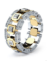 Недорогие -Муж. Кольцо Кольца для пары 1шт Золотой Искусственный бриллиант Сплав Классика Винтаж корейский Повседневные Школа Бижутерия Везучий