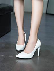 cheap -Women's Heels Stiletto Heel Pointed Toe PU(Polyurethane) Minimalism Spring &  Fall Black / Almond / White
