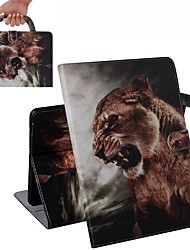 cheap -Case For iPad Air / iPad 4/3/2 / iPad (2018) Wallet / Card Holder / Shockproof Full Body Cases Lion PU Leather Case For iPad Air 2 / iPad (2017) / iPad Pro 9.7