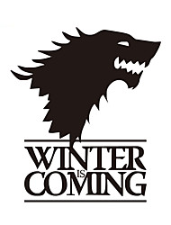 cheap -Funny Winter Is Coming Reflective Car Stickers Decoration Car Decals