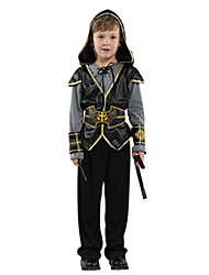 cheap -Robin Hood Cosplay Costume Masquerade Kid's Boys' Cosplay Halloween Party Halloween Festival Halloween Carnival Masquerade Festival / Holiday Polyster Black Carnival Costumes Patchwork