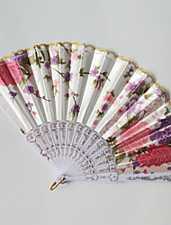 cheap -Hand Fans Plastic Split Joint Wedding