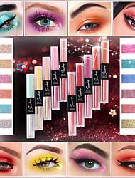 abordables -smakup 10 couleurs double-extrémité liquide ombre à paupières mat glitter unique ombre à paupières étanche maquillage pour le visage beauté cosmétiques tslm1