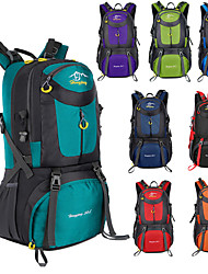 cheap -60 L Hiking Backpack Rucksack Breathable Straps - Lightweight Breathable Rain Waterproof Wear Resistance Outdoor Hunting Hiking Climbing Nylon Black Green Sky Blue / Yes