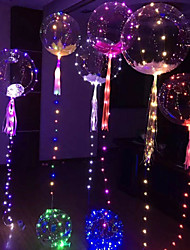 cheap -3M 30LED Luminous Led Balloon Transparent Round Bubble Decoration Birthday Party Wedding Decor LED Balloons Christmas Gift