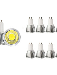 cheap -10pcs 5 W LED Spotlight 450 lm GU10 1 LED Beads COB Decorative Warm White Cold White 85-265 V / RoHS