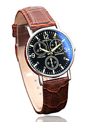 cheap -Men's Dress Watch Quartz Formal Style Leather Black / Brown Casual Watch Analog Casual - Black Brown Black / White One Year Battery Life