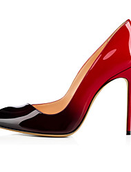 cheap -Women's Heels Stiletto Heel Pointed Toe Faux Leather Sweet / British Fall / Spring & Summer Black / Red / Party & Evening / Color Block