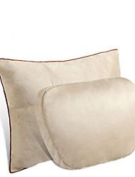 cheap -2pcs Universal car headrest S class Ultra soft pillow for Mercedes Benz mayach waist protection car seat lumbar pillows