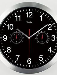Недорогие -Современный современный / Мода Нержавеющая сталь Круглый Классика В помещении Батарея Украшение Настенные часы Цифровой Нержавеющая сталь Да