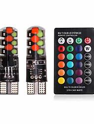 cheap -2pcs T10 Car Light Bulbs COB 6 LED License Plate Lights / Strobe / Flashing / Tail Lights For universal All years