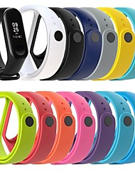 cheap -Watch Band for Mi Band 3 Xiaomi Classic Buckle Silicone Wrist Strap