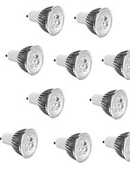 cheap -10pcs 3 W LED Spotlight 250 lm E14 GU10 GU5.3 3 LED Beads High Power LED Decorative Warm White Cold White 85-265 V